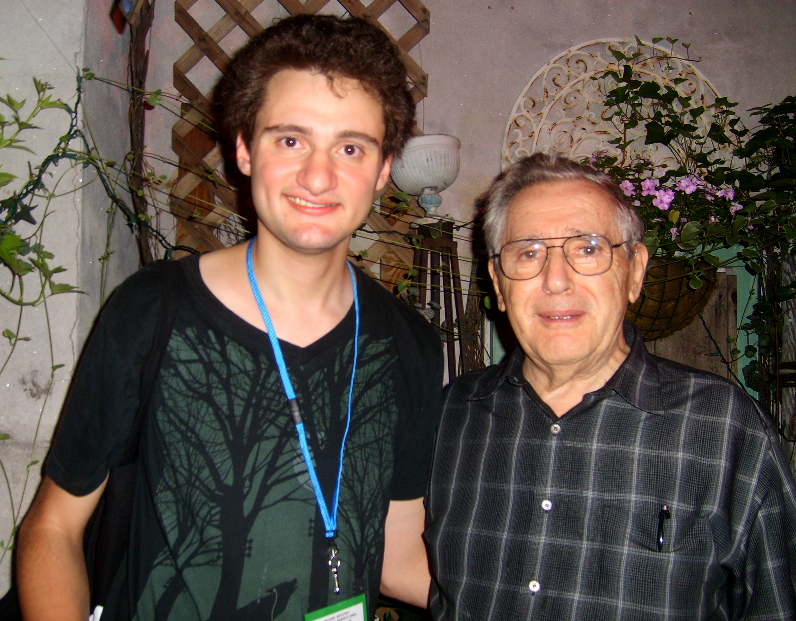 Me with Al Larson (Jonathan's father)