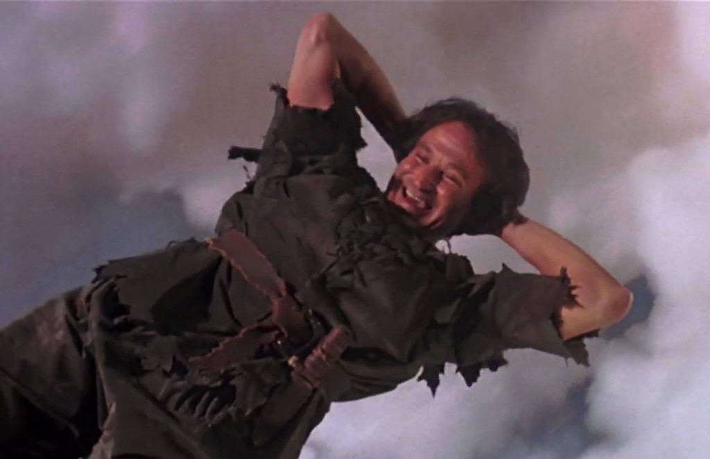 """Robin Williams as the adult Peter Pan in """"Hook"""""""